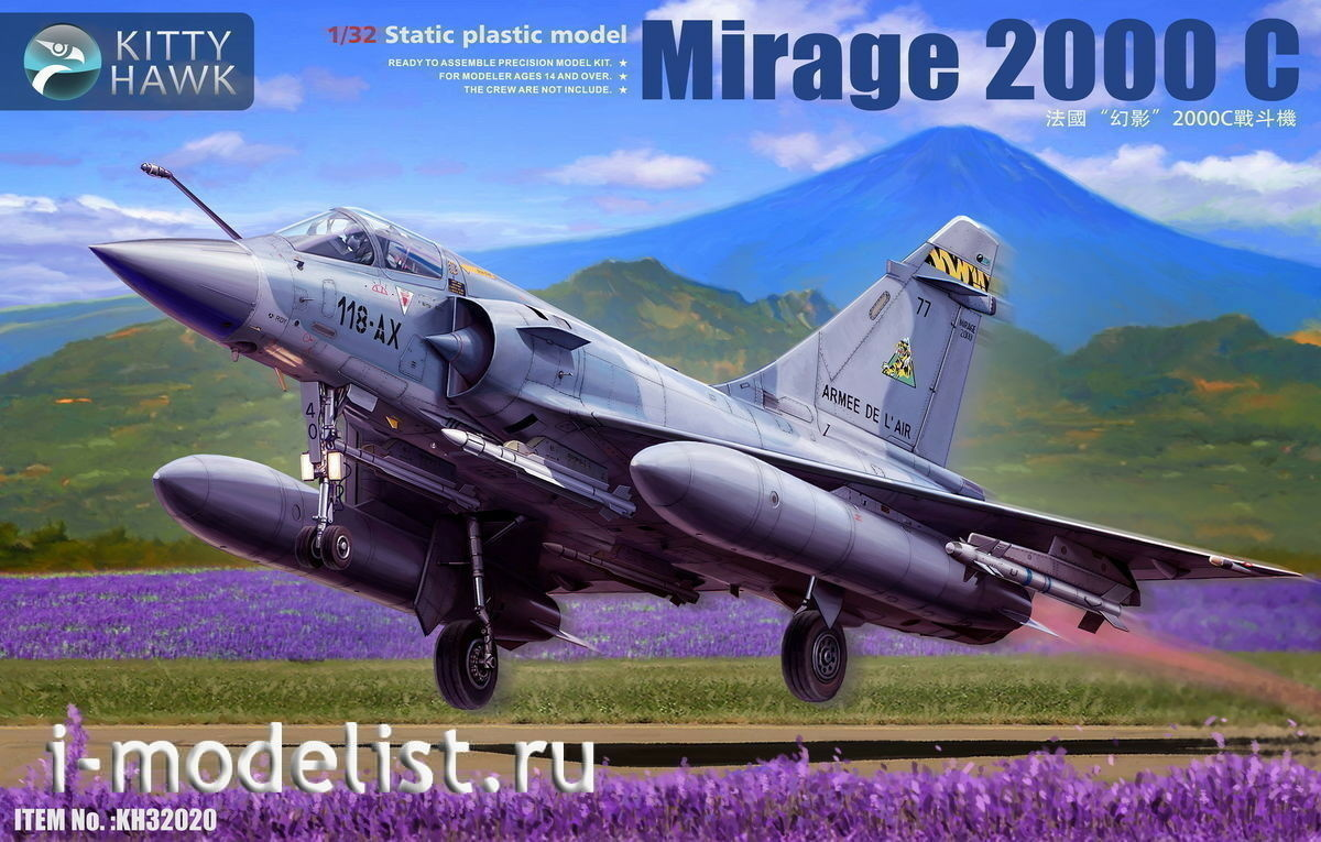 Kitty Hawk KH32022 1//32 Mirage 2000 D//N Model Kit for sale online