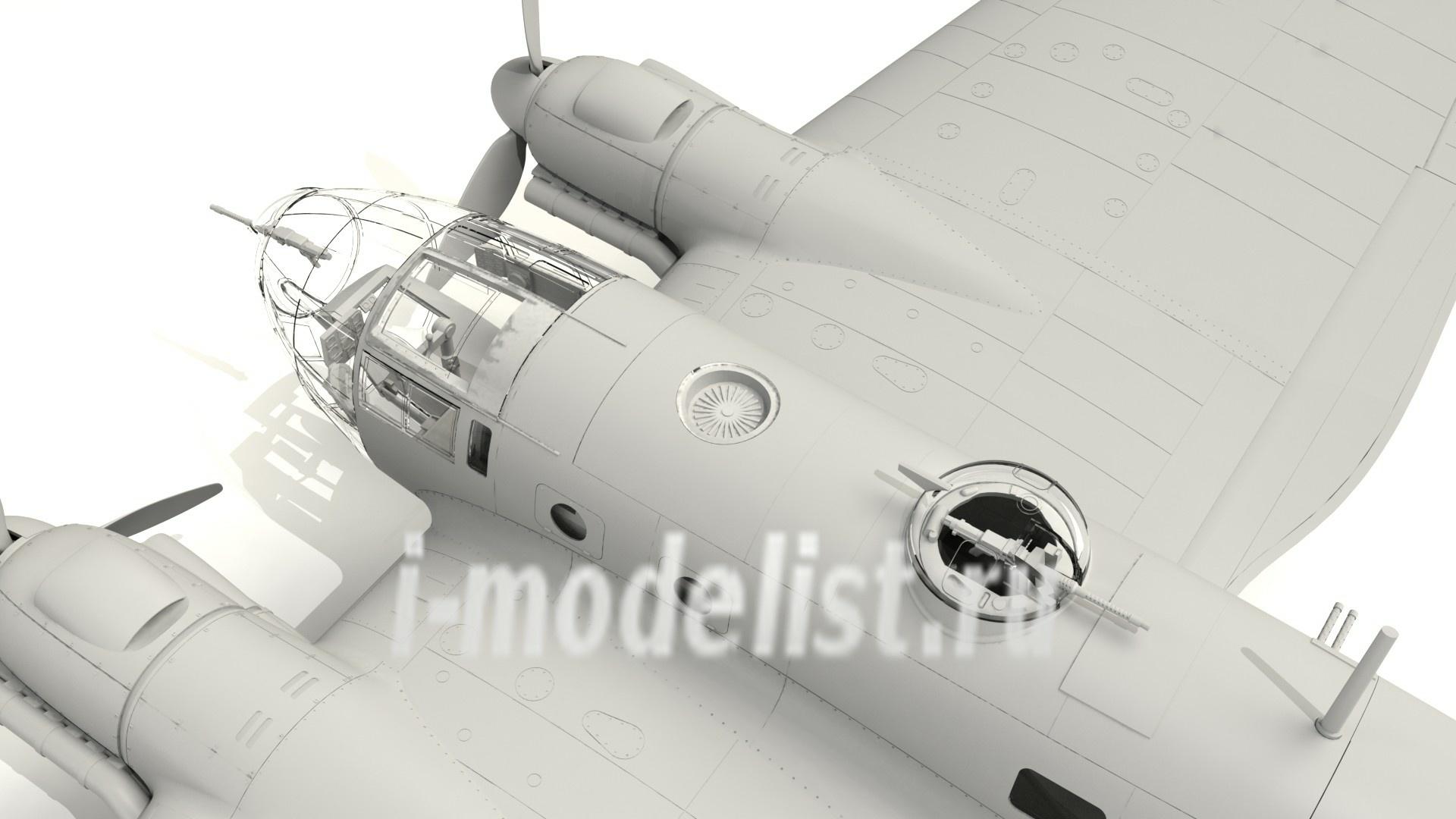 German  Bomber He 111H-16 Of The World War II 1//48 Plastic Model Kit ICM 48263