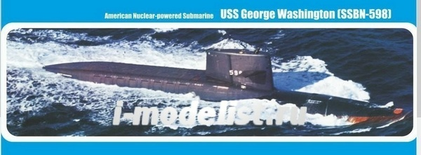 350-017 МикроМир 1/350 Американская подводная лодка USS George Washington (SSBN-598)