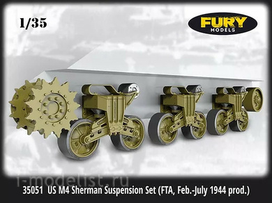 35050 Fury Models 1/35 US M4 Sherman Suspension Set (FTA, Feb. - July 1944 prod.)