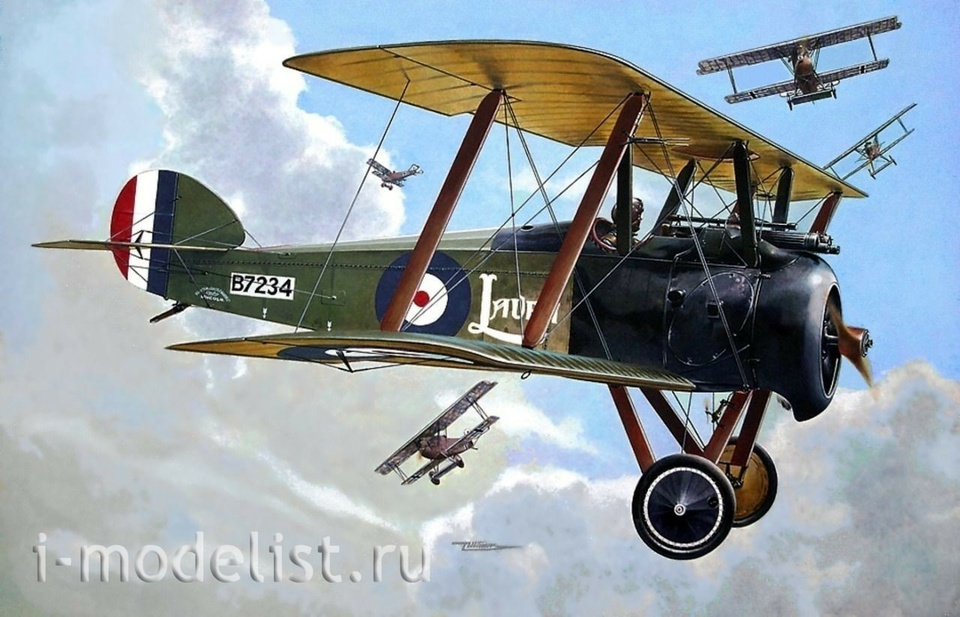 053 Roden 1/72 Самолёт Sopwith F.I Camel (w/ Bentley)