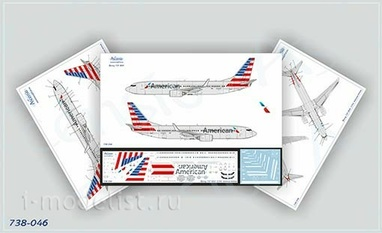 738-046 Ascensio1/144 Декаль для Boeing 737-800 American Airlines (New Livery)