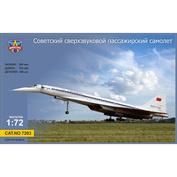 7203 ModelSvit 1/72 Советский пассажирский сверхзвуковой самолет Туполев 144