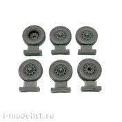 35234 GunTower Models 1/35 Колёса У@З (резина КАМА 219), 6 шт.