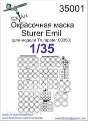 35001 SX-Art 1/35 Painting mask Sturer Emil (for Trumpeter 00350 model)