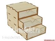 Mini-0010-35 WinModels Mini модуль-органайзер на 3 ящика