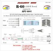 RVAC72001 R.V. AIRCRAFT 1/72 R-60+APU-60-I