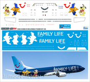 737800-35 PasDecals 1/144 Laser decal for Boeing 737-800 TUI