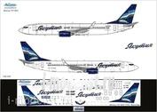 738-009 Ascensio 1/144 Декаль на самолет боенг 737-800 (яктия новая)