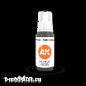 AK11027 AK Interactive Краска акриловая 3rd Generation Rubber Black 17ml