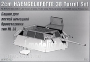 35002 1/35 Turret Layout for light German armored vehicles type Hl 38