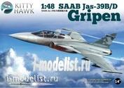 KH80118 KittyHawk 1/48 JAS 39B/D Gripen