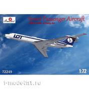 72249-01S Amodel 1/72 Самолёт Т-у-134А Аэрофлот