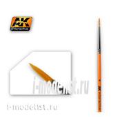 AK-605 AK Interactive round Brush 4 SYNTHETIC ROUND BRUSH