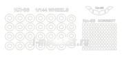 14433-1 KV Models 1/144 Набор окрасочных масок Илюшин-86 (по прототипу) + маски на диски и колеса