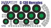 M72 049 KAV Models 1/72 Окрасочная маска для C-130 Hercules (Italeri)