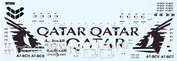 WT006 PasDecals 1/144 Decal using white print on Boing 787 Qatar
