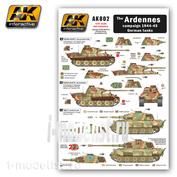 AK-802 AK Interactive Декаль для немецких танков 1944-45, Арденская операция