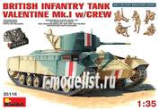 35116 MiniArt 1/35 Британский Пехотный Танк Мк.IIII Валентайн Мк.I