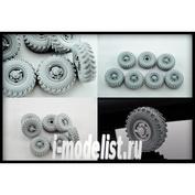 B35053 Miniarm 1/35 wheel Set OI-25 (CCCP) for car U-375,4320 (6pcs plus spare tire)