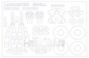 72108 KV Models 1/72 Маска для Lancaster Mk.I/III / B.III