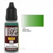 1715 Green Stuff World Wash Off color MOSS GREEN 17 ml