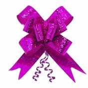 Подарочный бант-бабочка голография, Розовый
