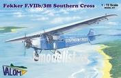 72072 Valom 1/72 Fokker F.VIIb/3m Southern Cross