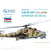 QD48155 Quinta Studio 1/48 3D Декаль интерьера кабины Мu-24П