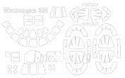 72086 KV Models 1/72 Набор окрасочных масок для Месищев 3М/ ВМ-Т