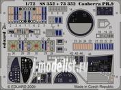 SS352 Eduard 1/72 Цветное фототравление Canberra PR.9 S. A.