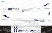 359-002 Ascensio 1/144 Декаль для airbu A350-900 One World (Finnair)