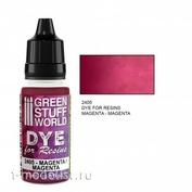 2405 Green Stuff World Краситель для смолы пурпурный 15 мл / Dye for Resins MAGENTA