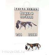23501 MINITANK 1/35 Кошка с котенком