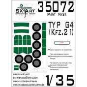 35072 SX-Art 1/35 Окрасочная маска Typ G4 (Kfz.21) (ICM)