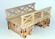 W3523 Бастион35 1/35 Бревенчатый мост (Материал: дерево)