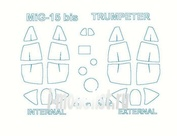 48037 KV Models 1/48 Маска для МиК-15бис (двухсторонняя маска)