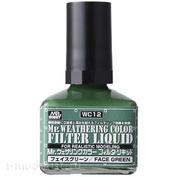 WC12 Gunze Sangyo Жидкий фильтр, Mr. Weathering Color, Green (зелёный), 40 мл.