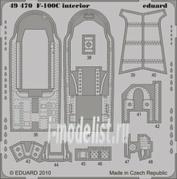 49470 Eduard 1/48 Фототравление для F-100C interior S.A.