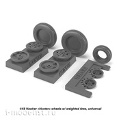 AW48406 Armory 1/48 Wheels under load for Hawker