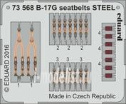 73568 Eduard 1/72 Фототравление для B-17G ремни СТАЛЬ