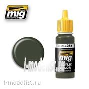 AMIG0081 Mig Ammo acrylic Paint-US OLIVE DRAB POST WWII (FS24087)