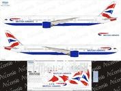 773-007 Ascensio 1/144 Декаль для boein 777-300ER KLM(Orange-Blue)