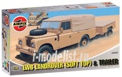 2322 Airfix 1/76 Lwb Landrover (Soft Top) and Trailer