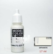 70820 Vallejo Краска акриловая `Model Color` Белила/Offwhite