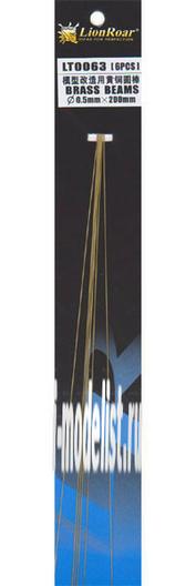 LT0063 Lion Roar Пруток металлический, диаметр 0,5 мм. Длина 200 мм. В комплекте 5 штук.