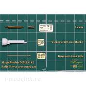 MM35182 Magic Models 1/35 Kit of guns for the armored Rolls-Royce (Lewis, Boys, Vickers)