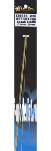 LT0064 Lion Roar Пруток металлический, диаметр 0,6 мм. Длина 200 мм. В комплекте 5 штук.