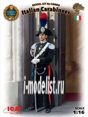 16003 ICM 1/16 Фигура, Итальянский карабинер