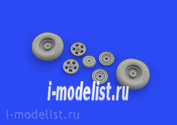 632127 Eduard 1/32 Набор дополнений Spitfire Mk. IX wheels 5spoke w/ smooth tire